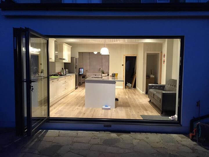 A single storey kitchen extension in London
